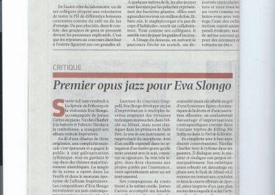 Critique Du concert à la Spirale, La Liberté 2016.10.24