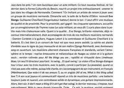 Eva et Django en Suisse normande | Jazz en Normandie