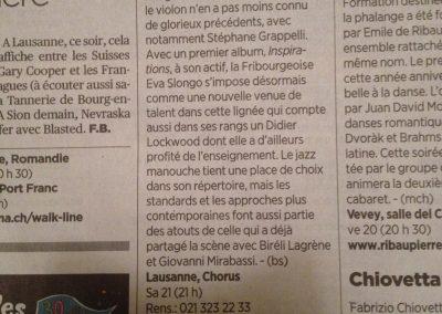 24 heures, concert Chorus Lausanne