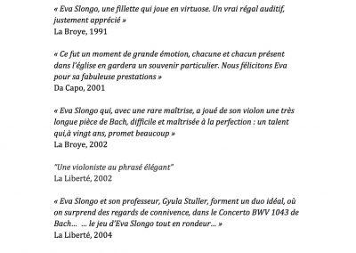 Revue de presse Eva Slongo